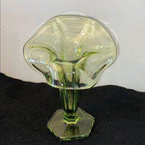 MINT! Vtg Avocado Green Jack in the Pulpit Vase